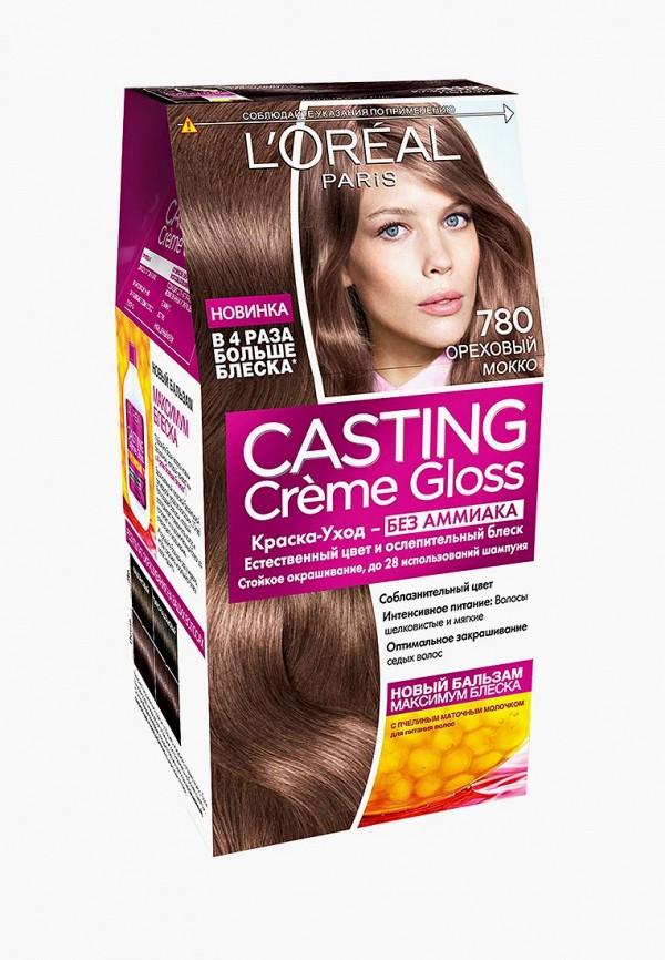 Краска для волос L'Oreal Paris, Casting Creme Gloss 780 Ореховый мокко, LO006LWLOG28, Весна-лето 2018  - купить со скидкой