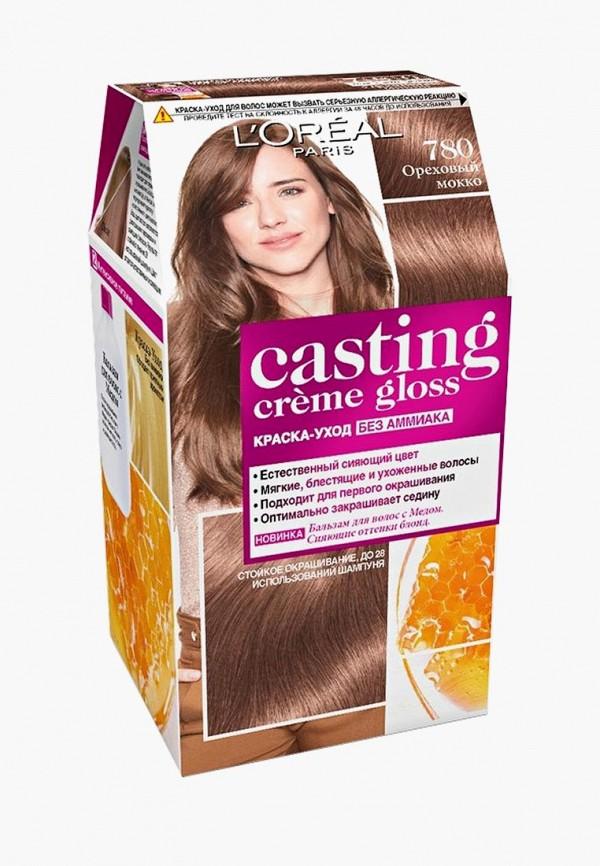 Краска для волос L'Oreal Paris, Casting Creme Gloss 780 Ореховый мокко, lo006lwlog28, Весна-лето 2019  - купить со скидкой