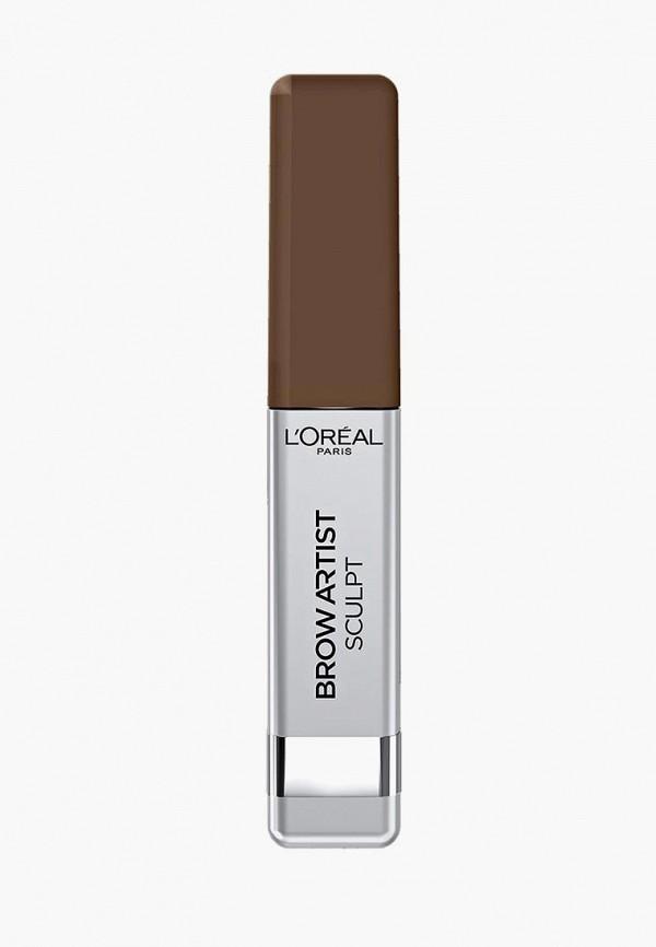 Купить Тушь для бровей L'Oreal Paris, BROW ARTIST sculpt, 02 Брюнет, LO006LWQST33, коричневый, Осень-зима 2018/2019