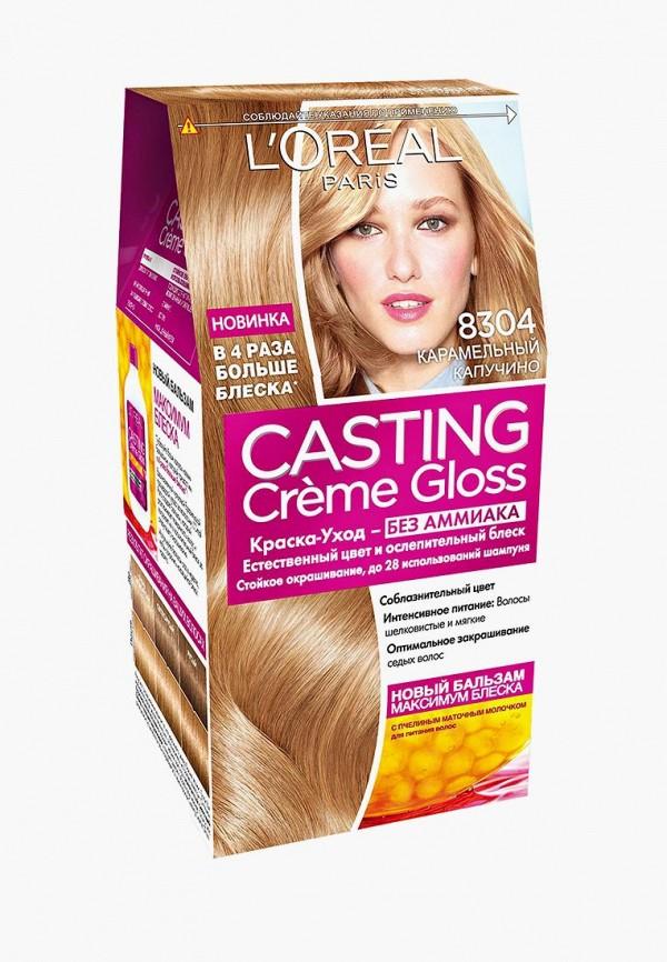 Купить Краска для волос L'Oreal Paris, Стойкая Casting Creme Gloss без аммиака, оттенок 8304, Карамельный капучино, LO006LWSWA42, Осень-зима 2018/2019