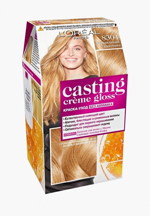 Купить Краска для волос L'Oreal Paris, Стойкая Casting Creme Gloss без аммиака, оттенок 8304, Карамельный капучино, lo006lwswa42, Весна-лето 2019