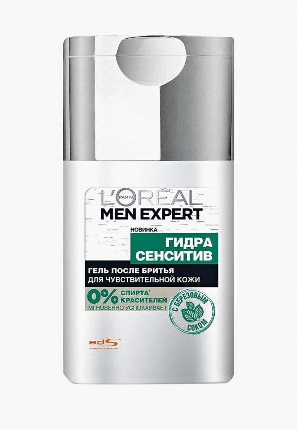 Купить Гель после бритья L'Oreal Paris, Men Expert Гидра Сенситив для чувствительной кожи, 125 мл, с березовым соком, lo006lwtkc26, белый, Весна-лето 2019