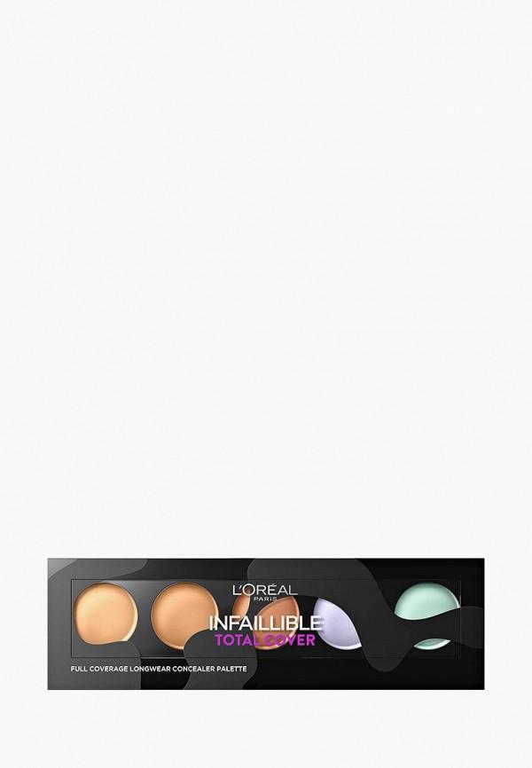 Купить Консилер L'Oreal Paris, для лица, палетка консилеров Infaillible Total Cover , 10 г, LO006LWZJE57, разноцветный, Весна-лето 2018