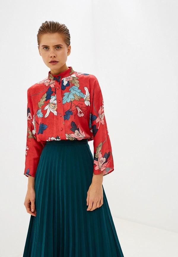 женская блузка love my body, красная