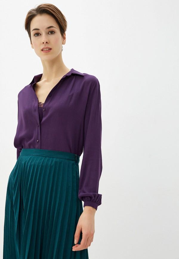 женская блузка love my body, фиолетовая