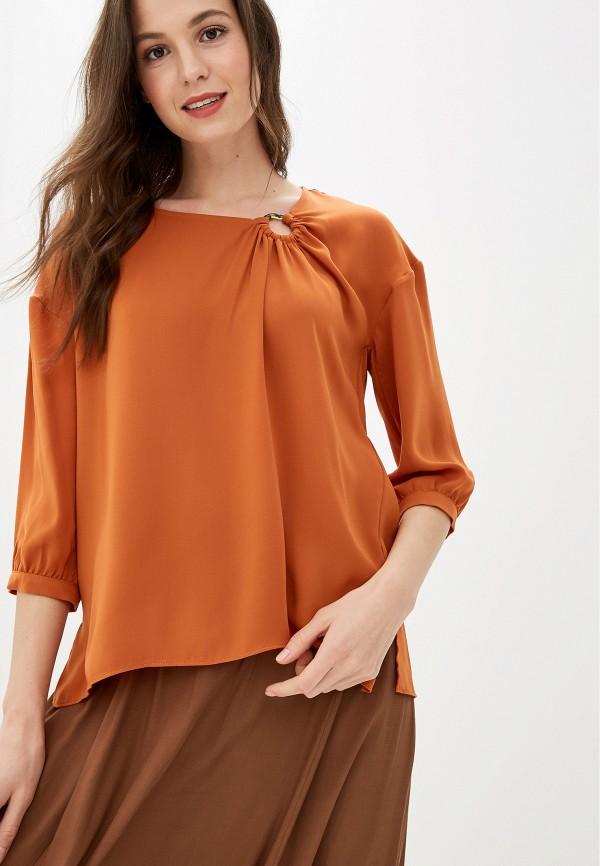 женская блузка love my body, оранжевая