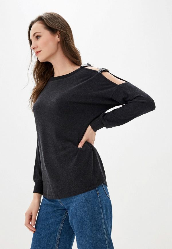 женская блузка love my body, серая