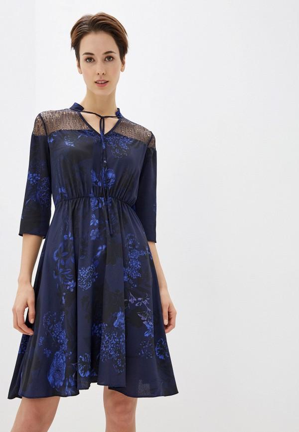 женское повседневные платье love my body, синее