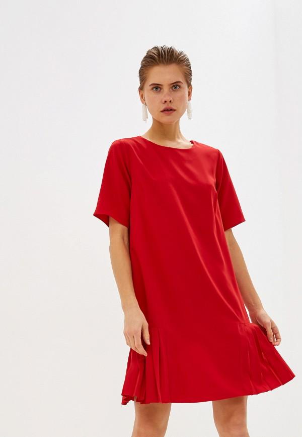 женское повседневные платье love my body, красное