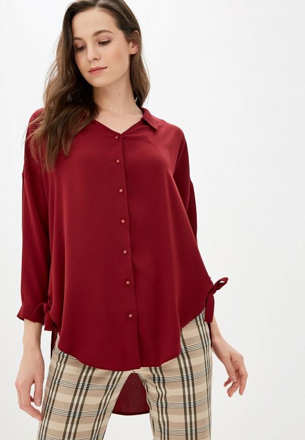 женская блузка love my body, бордовая