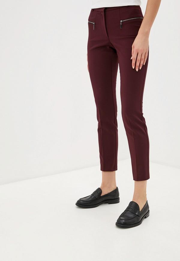 женские повседневные брюки love my body, бордовые
