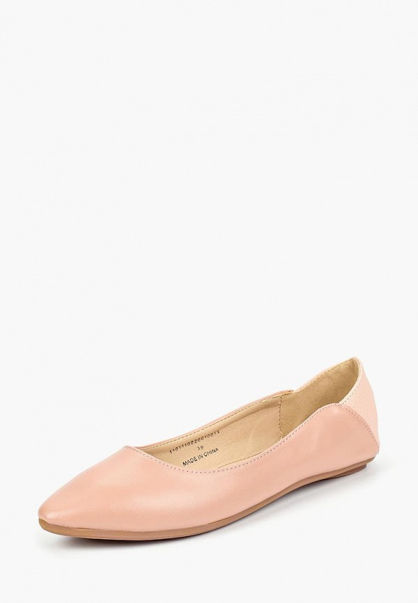 женские балетки lost ink, розовые
