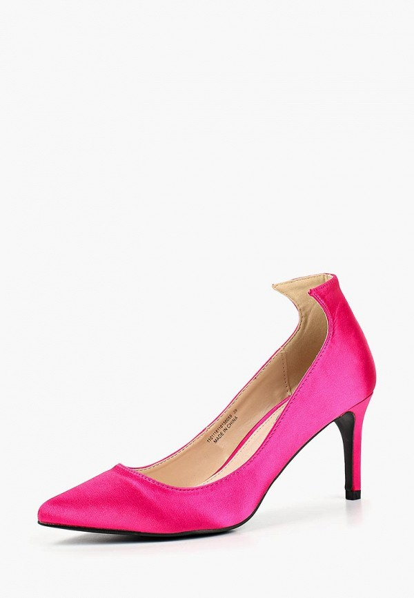 Купить Туфли LOST INK, TRINI ANGLED CUT KITTEN, LO019AWCDTA4, розовый, Осень-зима 2018/2019