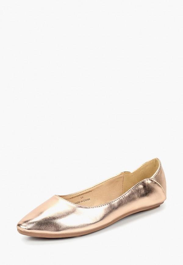 женские балетки lost ink, золотые