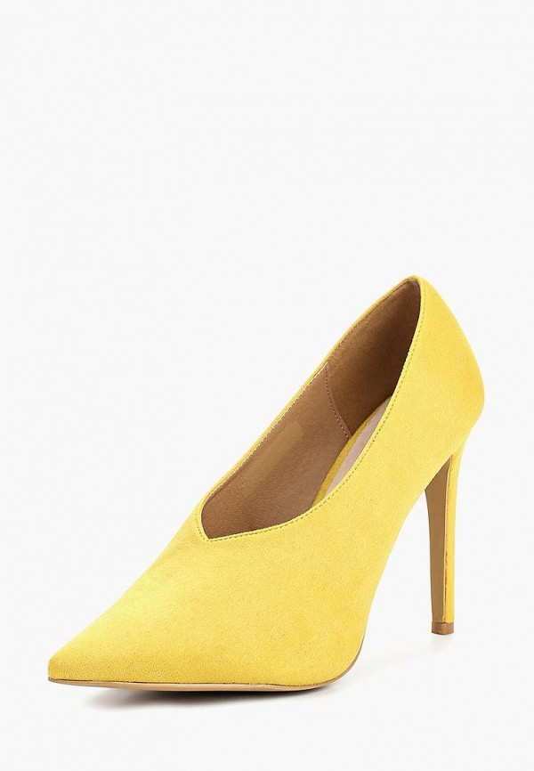 Купить Туфли LOST INK, HIGH VAMP BASIC COURT, LO019AWCDTD5, желтый, Осень-зима 2018/2019