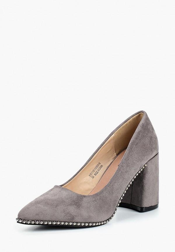 Купить Туфли LOST INK, STUD OUTSOLE BLOCK HEEL, LO019AWCDVO2, серый, Осень-зима 2018/2019