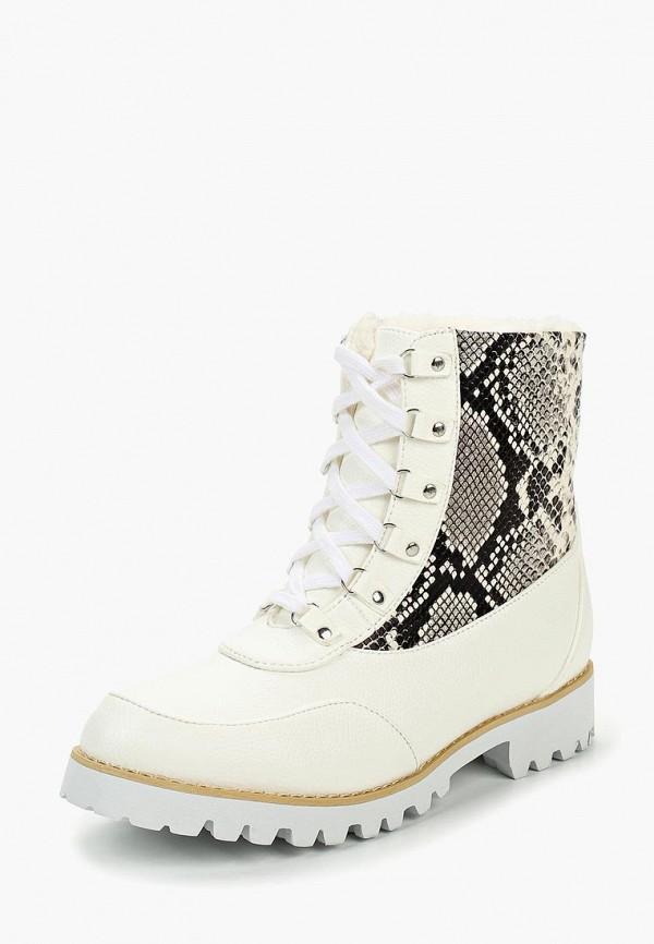 Купить Ботинки LOST INK, GEM WHITE SNAKE MIX SHORT SNOWBOOT, lo019awctbs7, белый, Осень-зима 2018/2019