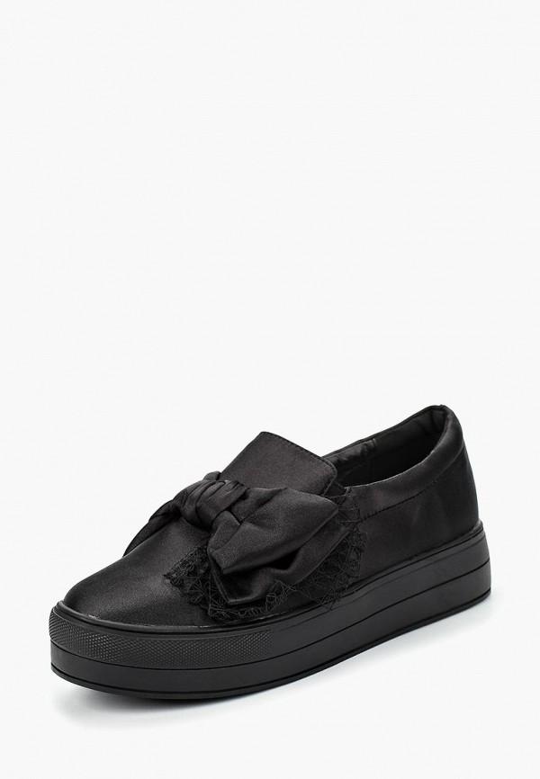Купить Ботинки LOST INK, KYLIE MESH BOW SLIP ON, LO019AWCTBU9, черный, Осень-зима 2018/2019