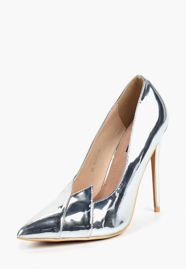 Купить Туфли LOST INK, TERI V FRONT COURT, LO019AWCTBX3, серебряный, Осень-зима 2018/2019