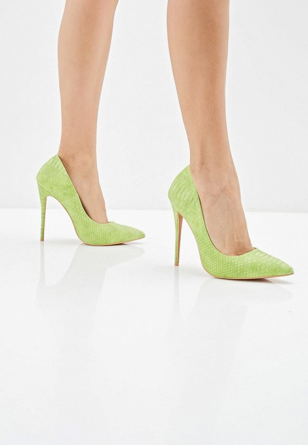 Фото 6 - женские туфли LOST INK зеленого цвета