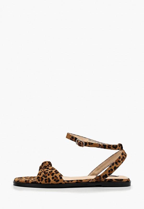 женские сандалии lost ink, коричневые