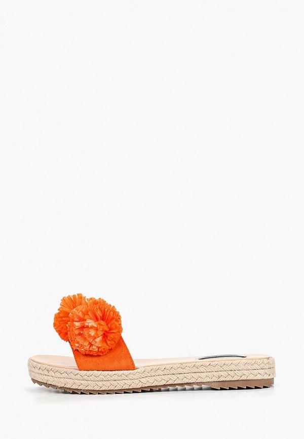 женское сабо lost ink, оранжевое