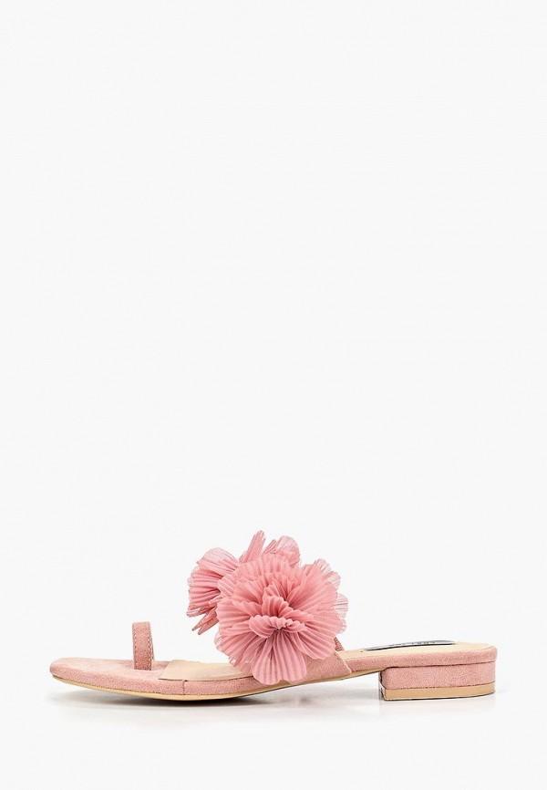 женское сабо lost ink, розовое