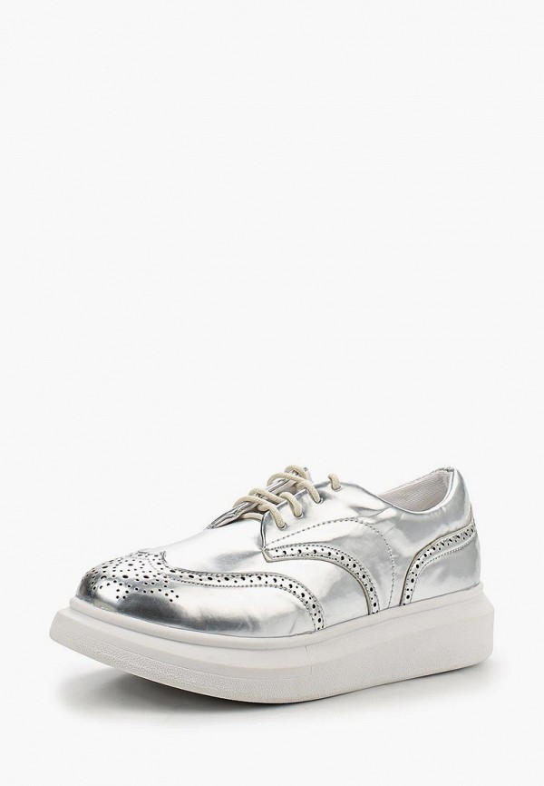 женские кроссовки lost ink, серебряные