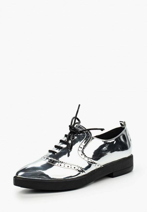 женские ботинки lost ink, серебряные