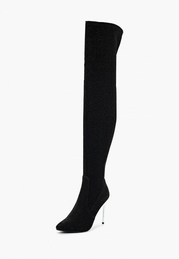 Фото 7 - женские ботфорты LOST INK черного цвета