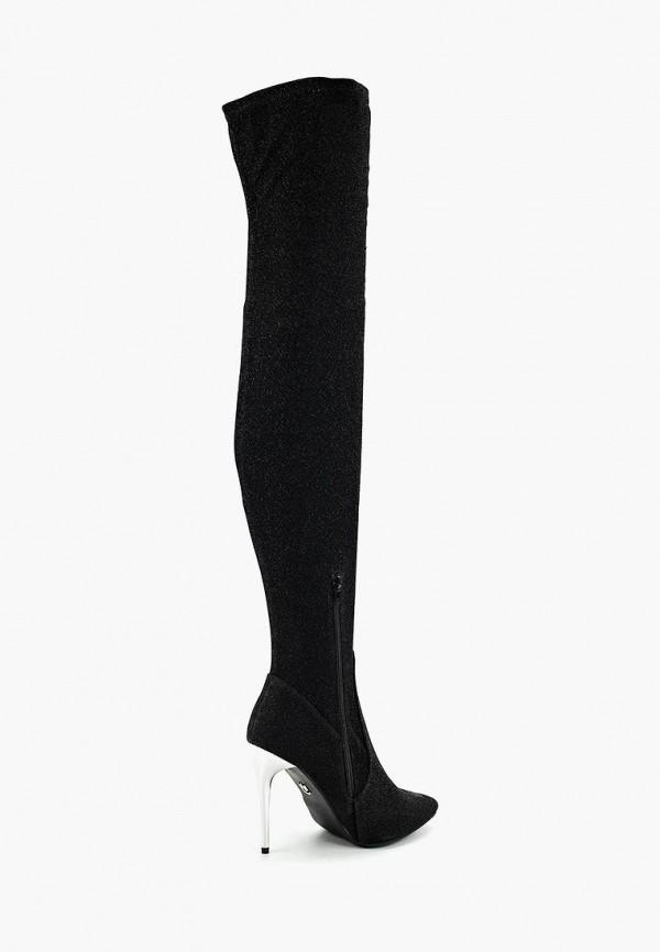 Фото 8 - женские ботфорты LOST INK черного цвета