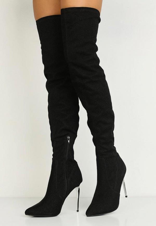 Фото 12 - женские ботфорты LOST INK черного цвета