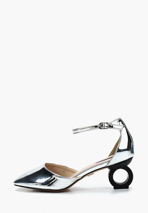 женские туфли lost ink, серебряные