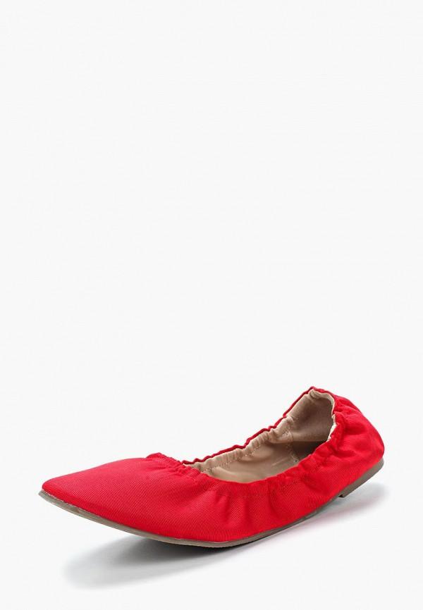 женские балетки lost ink, красные