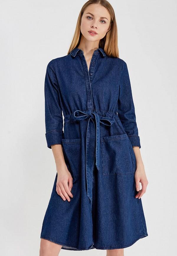 Купить Платье джинсовое LOST INK, DENIM SHIRT DRESS, lo019ewaaly6, синий, Весна-лето 2018
