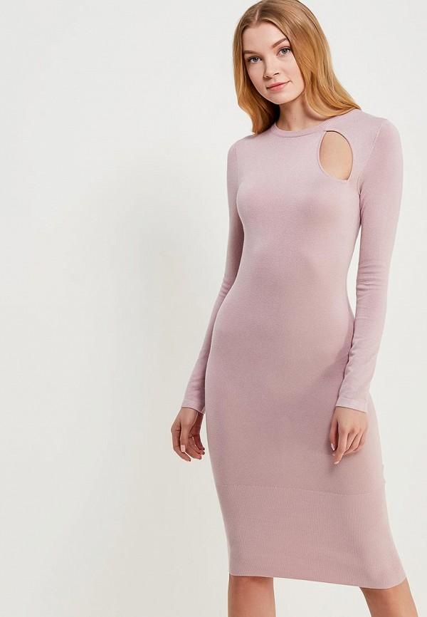 Купить Платье LOST INK, BODYCON DRESS WITH SIDE NECK CUT OUT, LO019EWAFSC8, розовый, Весна-лето 2018