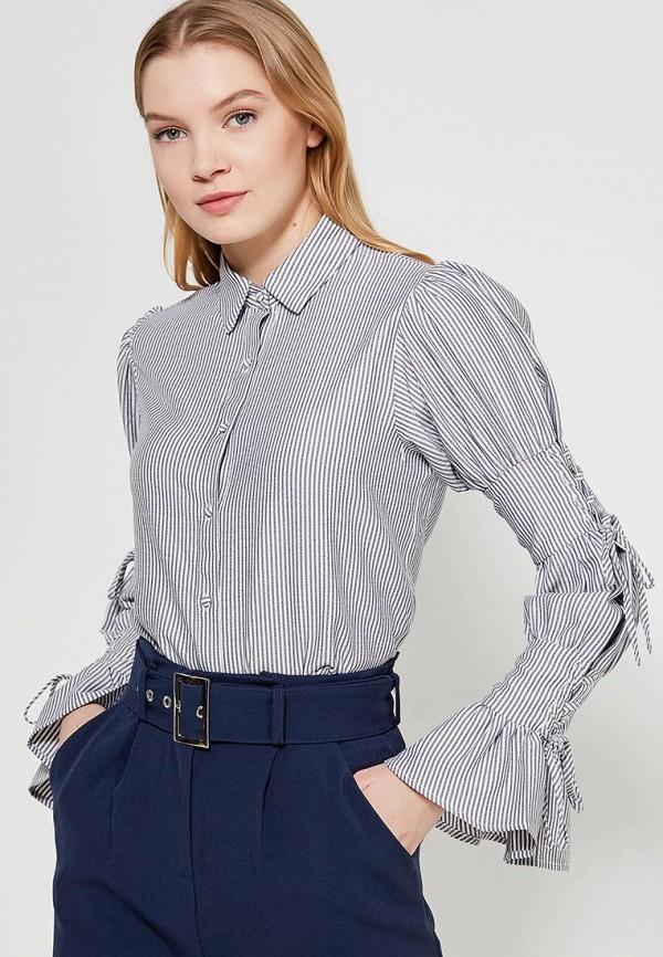 женская блузка lost ink, серая