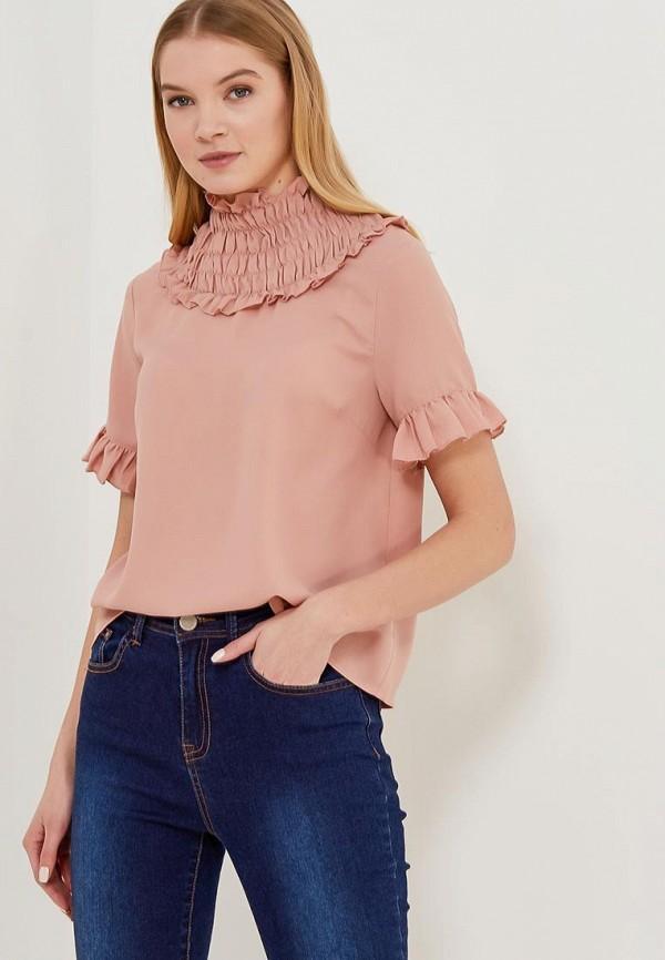 женская блузка lost ink, розовая