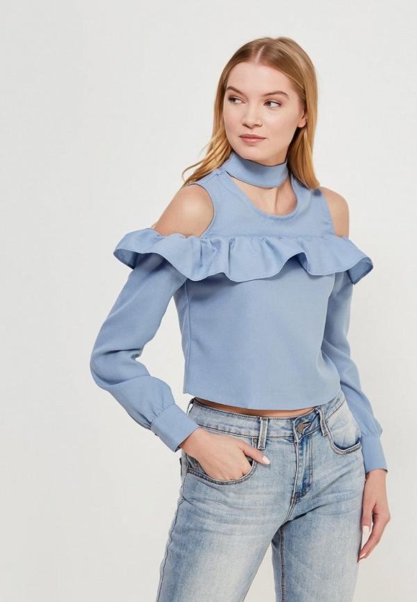 Купить Блуза LOST INK, COLD SHOULDER BLOUSE, LO019EWAJOM9, голубой, Весна-лето 2018