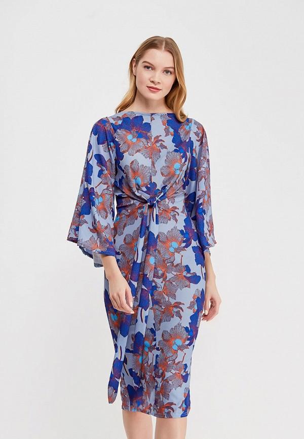 женское повседневные платье lost ink, синее