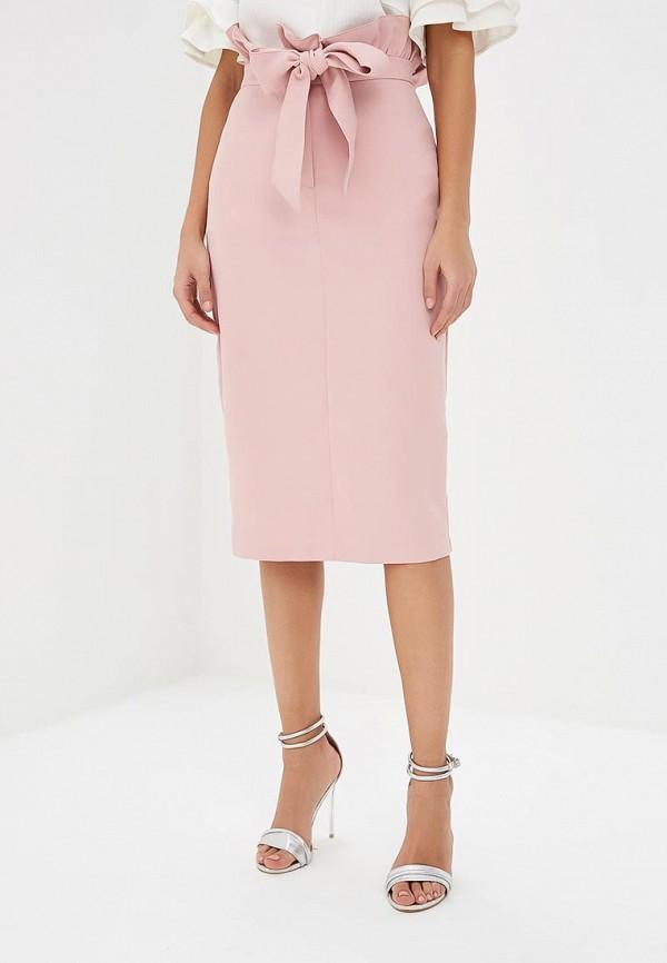 женская прямые юбка lost ink, розовая