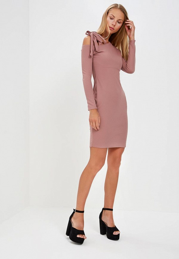 Купить женское платье LOST INK розового цвета