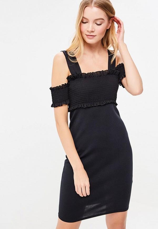 Купить Платье LOST INK, SHEARED TOP BODYCON MINI DRESS, LO019EWAXOG1, черный, Весна-лето 2018