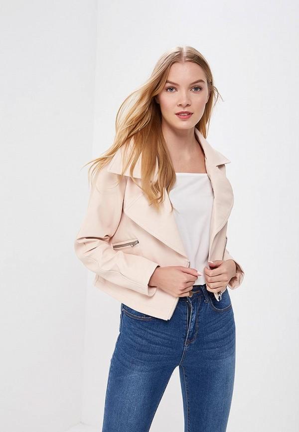 Купить Куртка кожаная LOST INK, CROP BOXY PU JACKET, lo019ewbdmy3, розовый, Весна-лето 2018