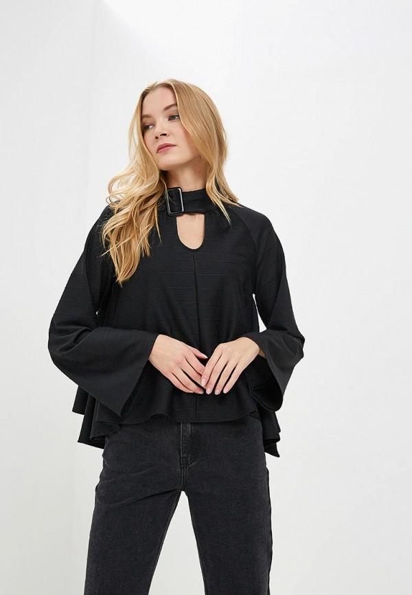 женская блузка lost ink, черная