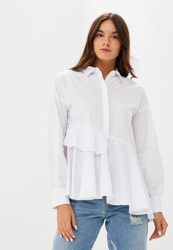 Купить Блуза LOST INK, ASYMMETRIC LAYERED SMOCK SHIRT, LO019EWCCPS2, белый, Осень-зима 2018/2019
