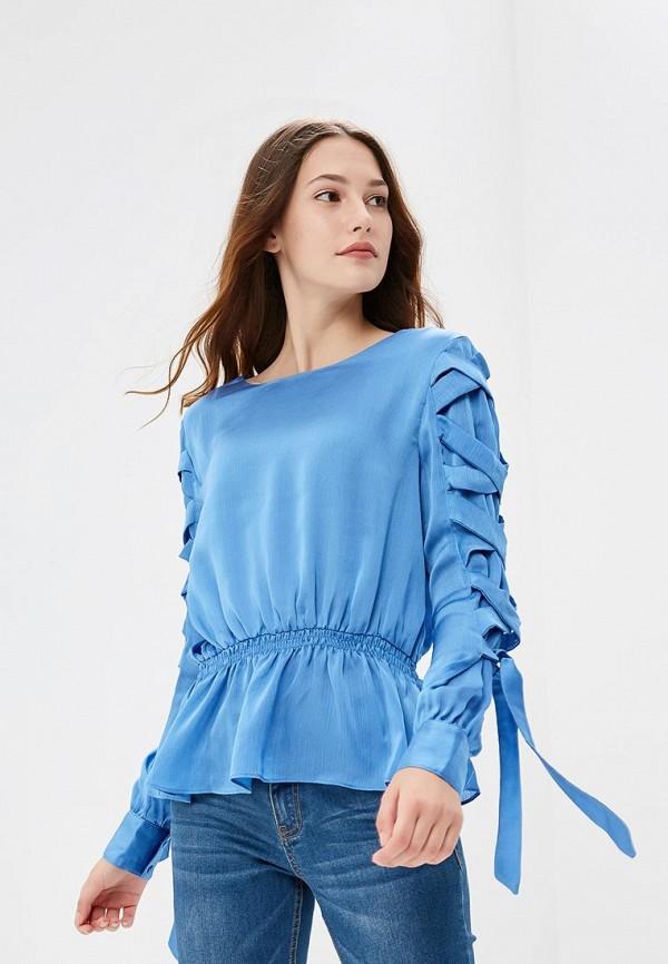 Купить Блуза LOST INK, TIE DETAIL BLOUSE, LO019EWCCPT2, голубой, Осень-зима 2018/2019