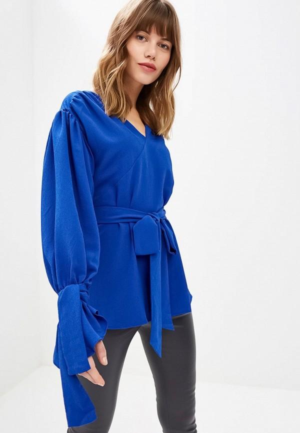 Купить Блуза LOST INK, TIE DETAIL BLOUSE, lo019ewccpt9, синий, Осень-зима 2018/2019