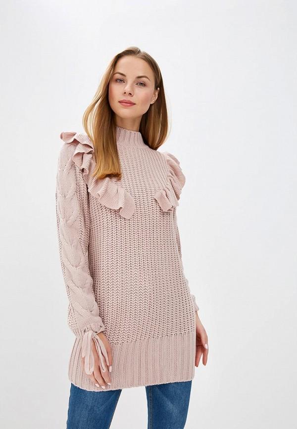 женский свитер lost ink, розовый