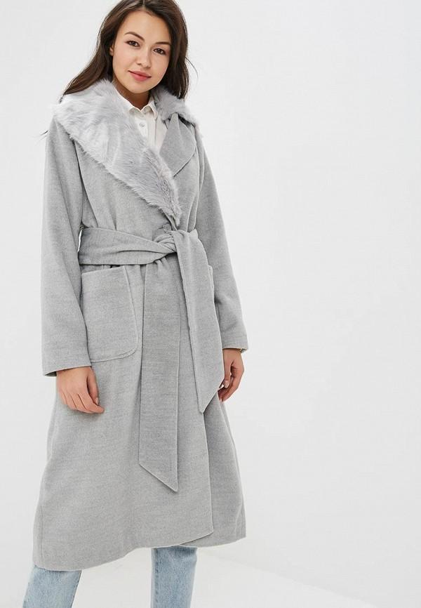 женское пальто lost ink, серое